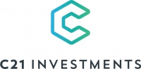 Logo for C21 Investments Inc.
